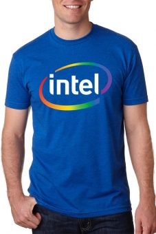 intel logo t shirt design